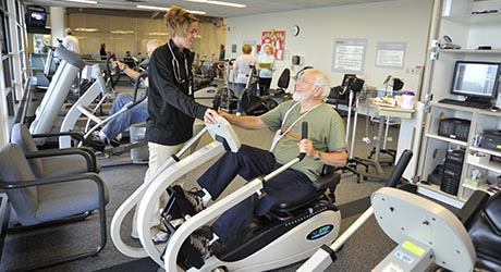 Patient in cardiac rehab