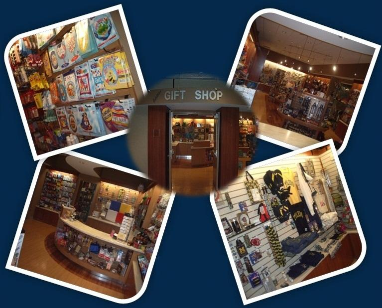 collage of gift shop photos