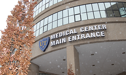 The main entrance of the UTMC building